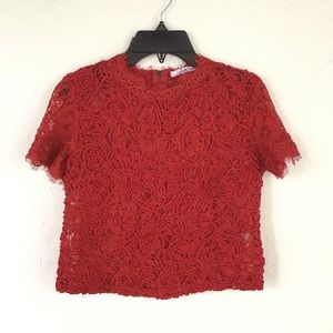 Red Zara Lace top
